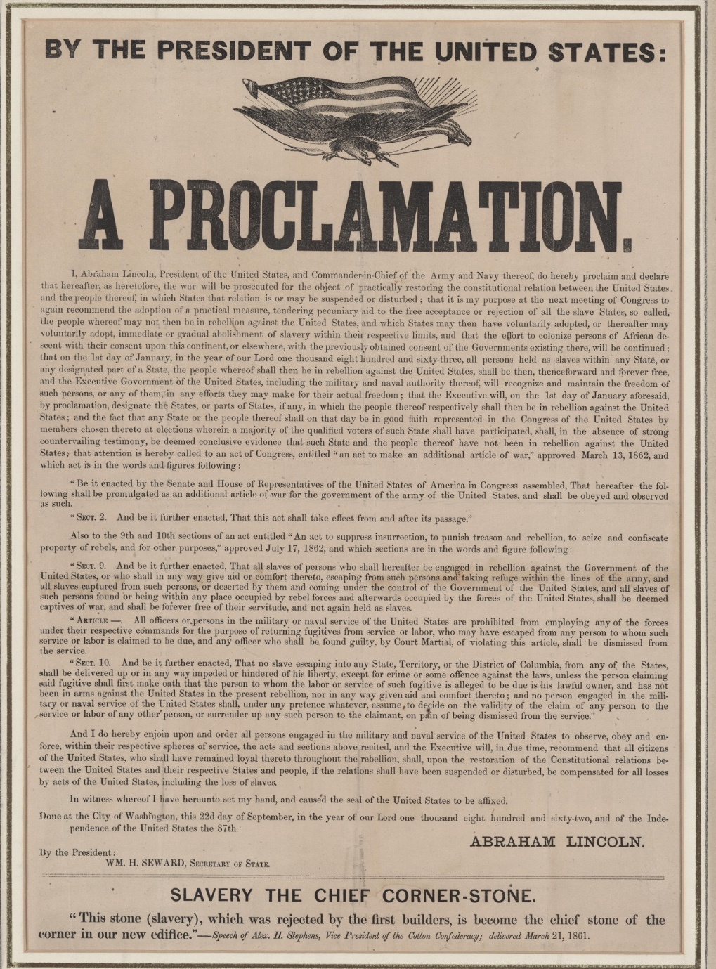 The Emancipation Proclamation Issued Today in 1863 | The ...